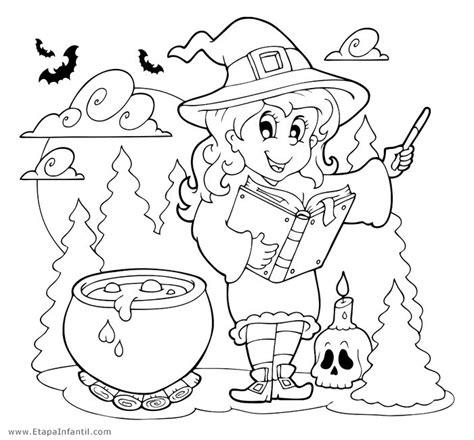 imagenes de halloween infantiles para imprimir dibujos de bruja para imprimir y colorear en halloween