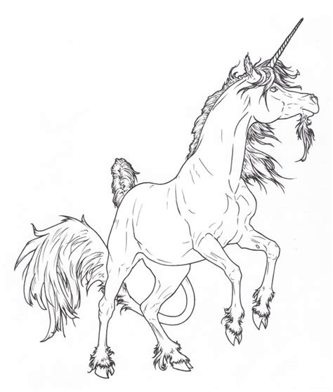 rearing unicorn lines by requay on deviantart