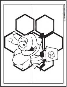 bee color bee coloring pages hives flowers and honey