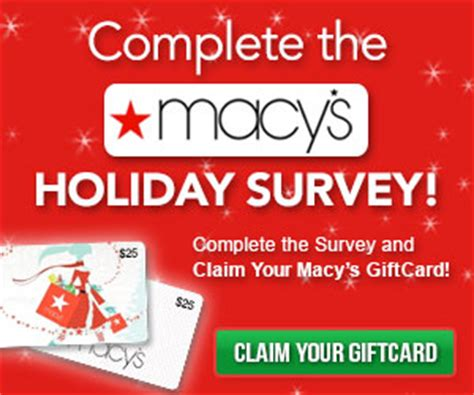 Lost Macys Gift Card - take the macy s holiday survey and claim your macy s 25 gift card free
