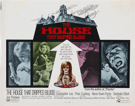 the house that dripped blood the house that dripped blood hammer horror b movie posters