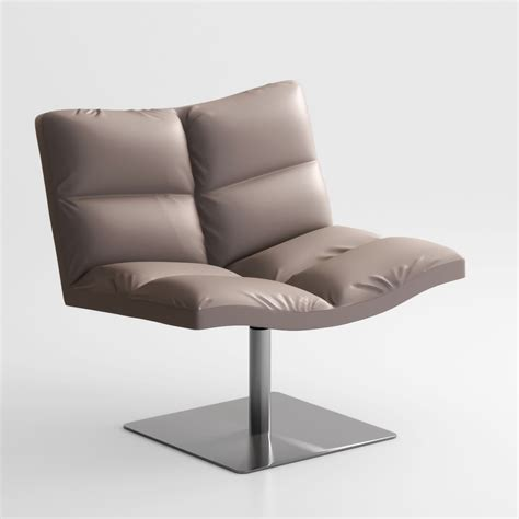 tonon wave soft lounge chair 3d model max obj cgtrader