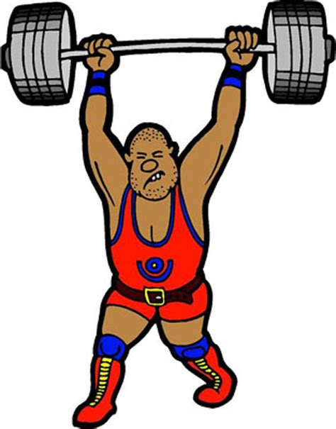 Kaos Fitness World Graphic 6 weightlifter clipart