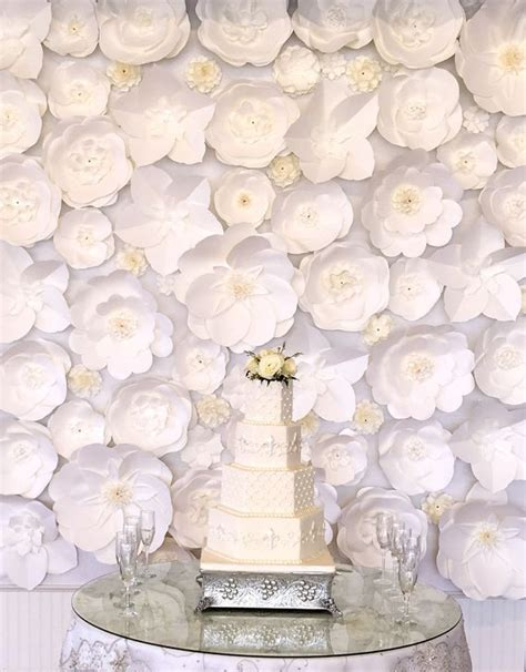Large Paper Flowers - large paper flower backdrop white custom order