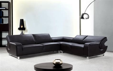 black leather l couch l shaped black leather sectional sofa with adjustable