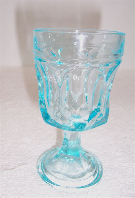 Blue Glass a resale light blue glass wine goblet