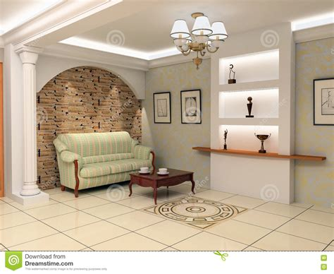 interior design foyer stock image image of vanity wall modern foyer interior stock illustration illustration of