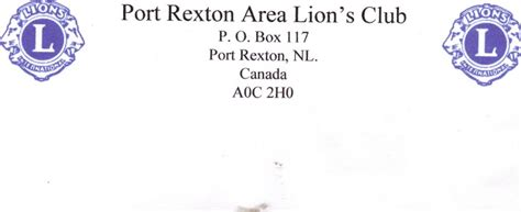 Port Rexton Lions Club Port Rexton Lions Club Lions Club Letterhead Template