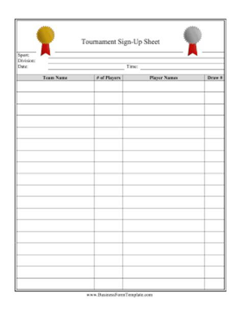 golf outing sign up sheet template tournament signup sheet template