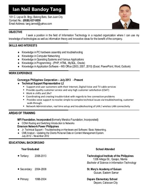 Jobstreet Singapore Resume Sle Cv Update For Jobstreet