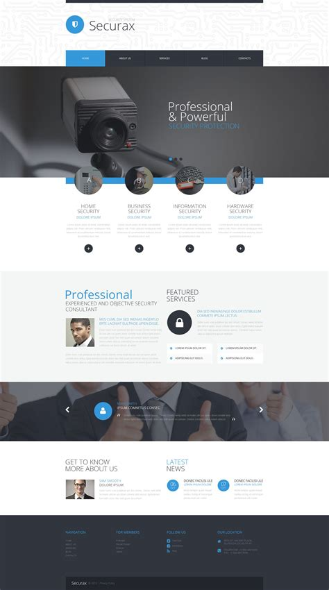 Security Wordpress Template Web Template System