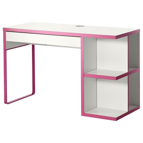 micke desk with integrated storage retail display white