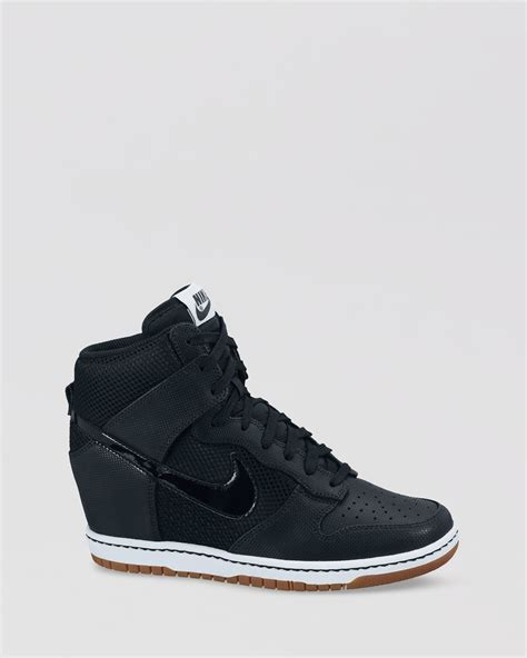 nike high top womens sneakers nike high top lace up sneakers womens dunk sky hi in black