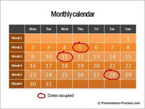 Show Calendar 5 Creative Powerpoint Timeline Ideas