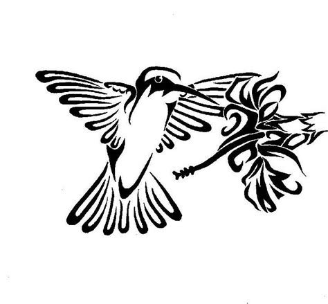 tribal hummingbird tattoo designs hummingbird superb tribal flower design