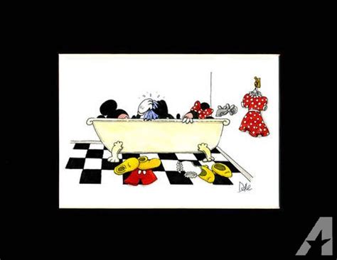 Mouse In Bathtub by Humorous Bathroom Print Of Mickey In The Bathtub For Sale
