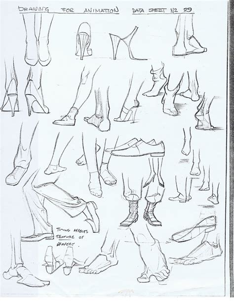 Drawing References by Character And Creature Design Notes Foot Reference