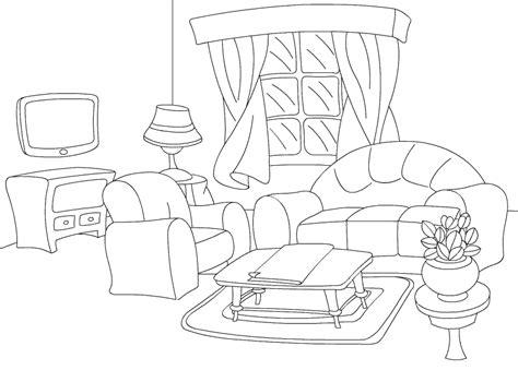 wohnzimmer ausmalen ausmalbilder malvorlagen wohnzimmer kostenlos zum