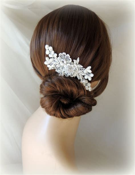 vintage wedding combs for hair lace and pearl bridal hair comb wedding hair comb vintage