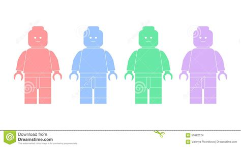 Vector Clip Of A Set Of Different Colored Vector Illustration Silhouettes Of Lego Editorial Stock Image Image 56982074