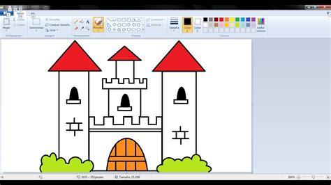 imagenes de navidad para dibujar en paint dibujos para ni 241 os con paint c 243 mo dibujar un castillo con