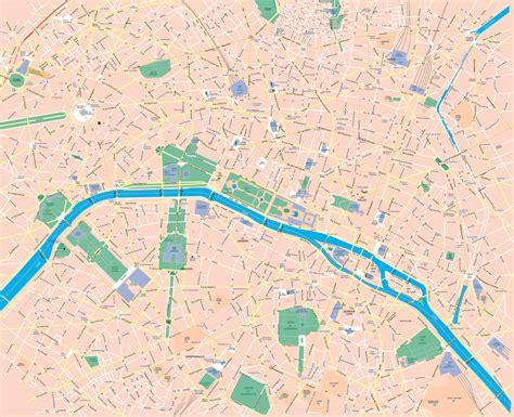 printable paris road map large scale road map of central part of paris city