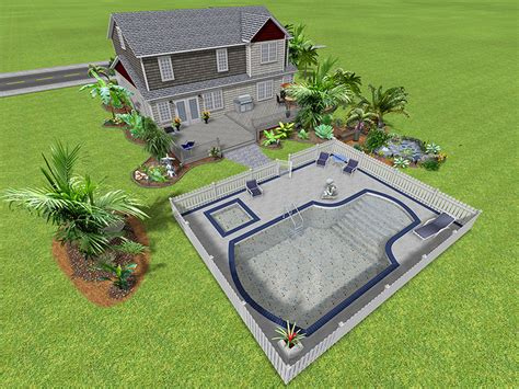backyard extraordinary backyard design software 3d