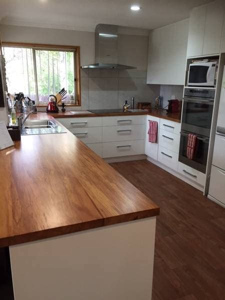 hardwood bench tops wooden benchtops photo galleries kiwi kitchens christchurch nz