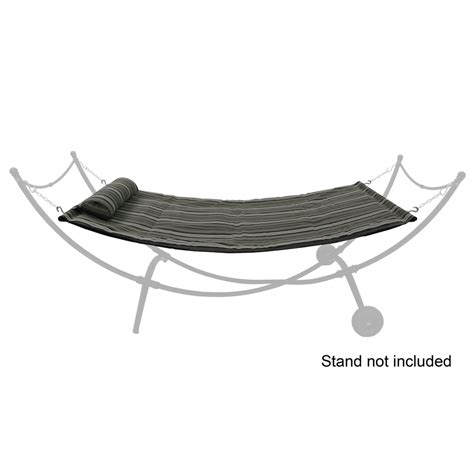 Garden Treasures Hammock Stand shop garden treasures 89 75 in gray silver polyester hammock at lowes