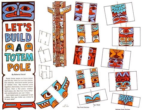 How To Make A Paper Totem Pole - how to make a paper totem pole 28 images pin by fab et