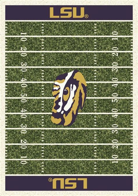 lsu rug louisiana state lsu tigers 7 8 quot x 10 9 quot ncaa home field area rug onlinesports