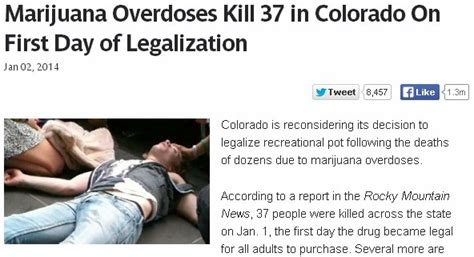 Marijuana Overdose Meme - quot marijuana overdoses kill 37 quot story among colorado pot