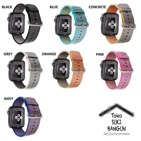 Apple Band 38mm Canvas Sport Series Tali Jam jual 42mm apple iwatch tali jam woven canvas band toko suki bangun