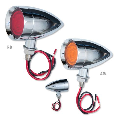 Bullet Lights Dual Function 9 Led Mini Bullet Lights In Red Or Amber