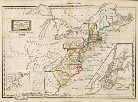 map usa republic eighth map 1789 digital collections for the classroom