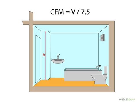 cfm calculator bathroom how to calculate cfm for bathroom fan 5 steps with pictures