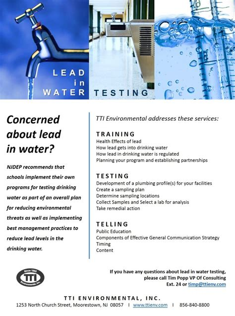 lead in water testing guidance for schools and child