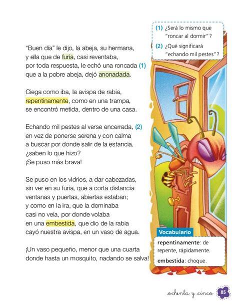 fabula de la avista 2 176 b 225 sico lenguaje estudiante santillana