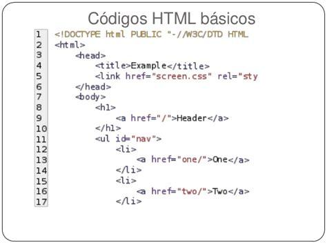 imagenes html codigo c 243 digo html trabajo compu