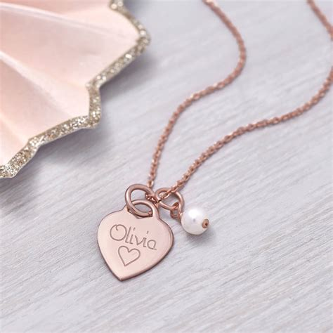 personalised gold charm necklace