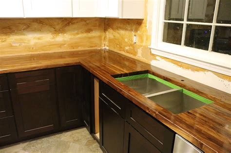 how to install undermount sink in butcher block countertop how to cut seal install butcherblock countertops with
