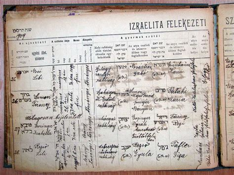 Hungarian Birth Records The M 225 Ramaros County Records Indexing Project