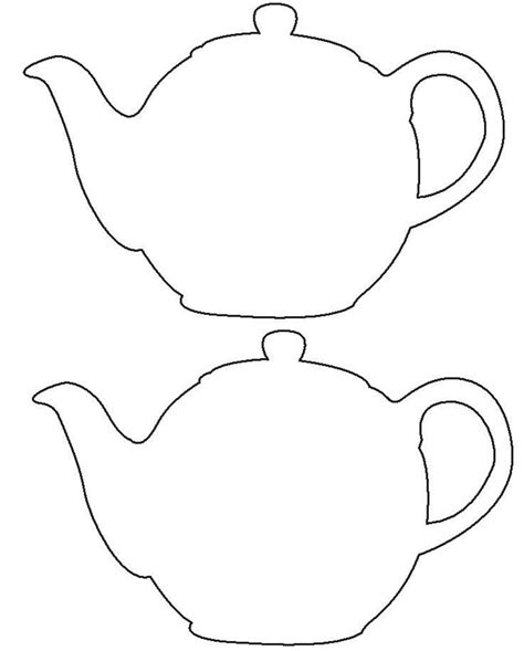 tea party tea pot template pattern craft for west virginia