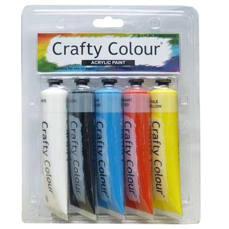 acrylic paint bunnings crafty colour 75ml acrylic paint 5 pack bunnings warehouse