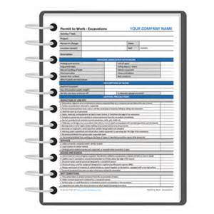 excavation permit to work template darley pcm