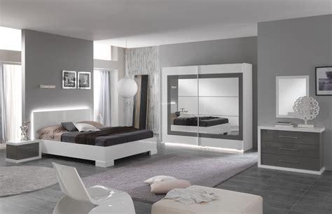 chambre design laqu 233 e blanche et grise hanove
