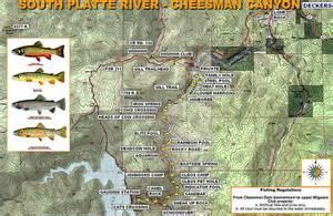 deckers colorado map south platte river cheesman maplets