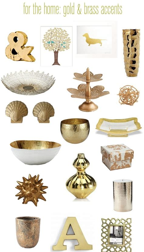 Golden Home Decor Touches Of Brass Gold Centsational