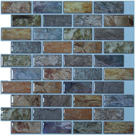 top   wall tiles peel  stick brick