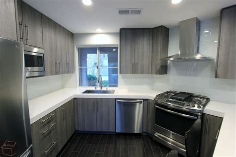kitchen cabinets santa ana santa ana modern gray u shaped kitchen remodel with sophia